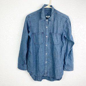 Madewell XS Button Front Denim L/S Shirt